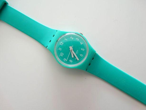 Swatch Zegarek Na Długim Pasku Długi Pasek Seledyn Seledynowy