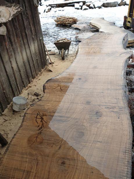 Drewno dąb jesion Blat drewniany lity stół deska kuchnia łazienka wood