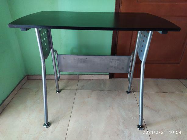 biurko czarne metalowe