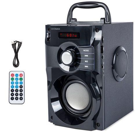 Nowy Przenośny Głośnik BLUETOOTH do Samochodu Domu USB SD AUX RADIO FM