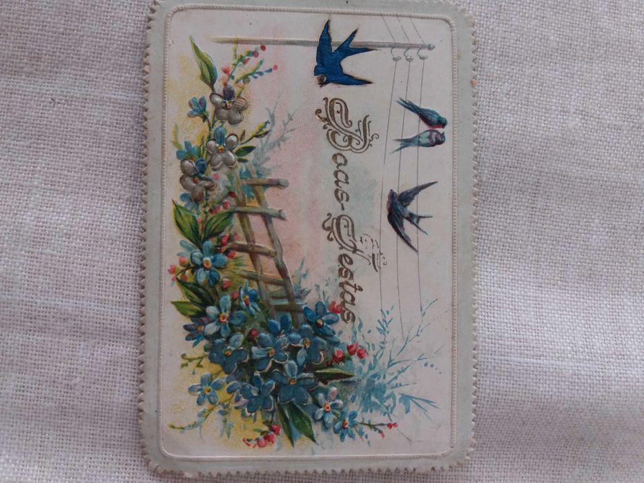 4 Cartãozinhos de Boas Festas e de Felicitações com + 100 Anos, Raros Estrela - imagem 1