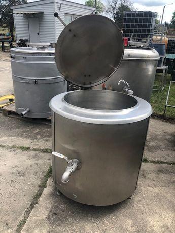 Kocioł zbiornik warzelny z pokrywą i kranem 150 L