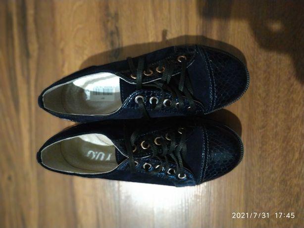 Туфли на девочку кожаные 32р.