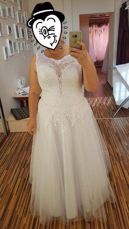 Suknia ślubna plus size dla większej xxl 44 46 48