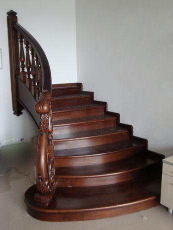 Лестница из дуба 7 ступеней и перила