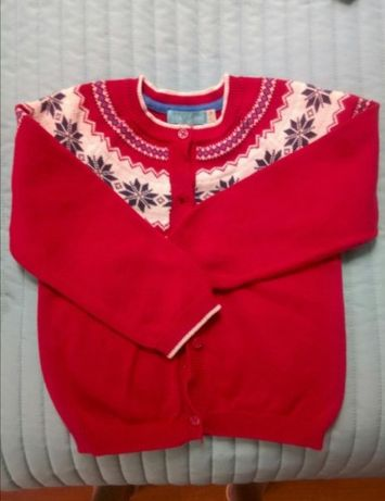 Sweter Little Bird 2-3lata czerwony jak nowy