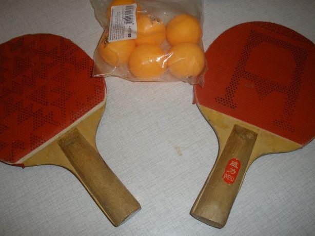Ракетки настольный тенис и шарики