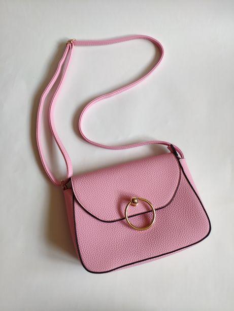 Сумка НОВАЯ через плечо розовая рожева кросс боди клатч сумочка рюкзак