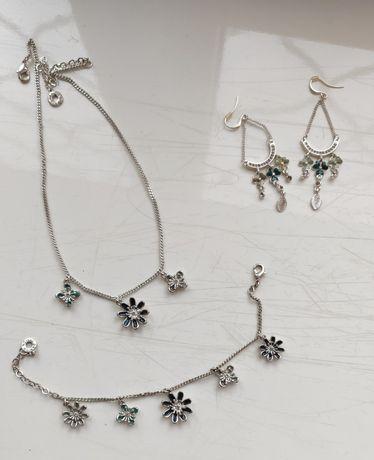 Набор,комплект -подвеска(цепочка), браслет и сережки