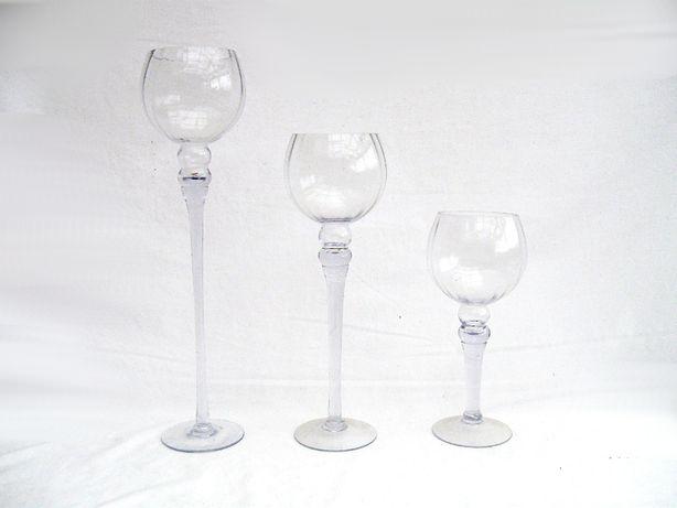 ~* Kielich wazon szklany * wysoki Wielki ozdobny *~