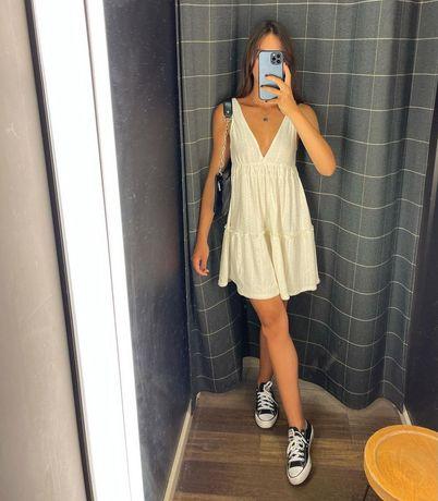 Новое белое платье pull&bear
