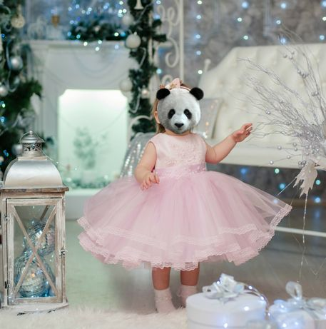 Аренда детское платья розовое для девочки на 1-1,5 года