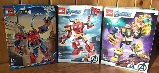 Lego Super Heroes Marvel Mech 76141 + 76140 + 76246 Wys24h