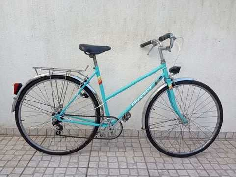 Bicicleta Peugeot vintage azul roda 650b Tamanho 52