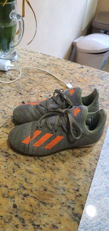 Bota de futebol, marca adidas, X 19.3 piso firme, criança,  n. 31