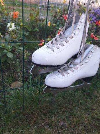 łyżwy damskie białe