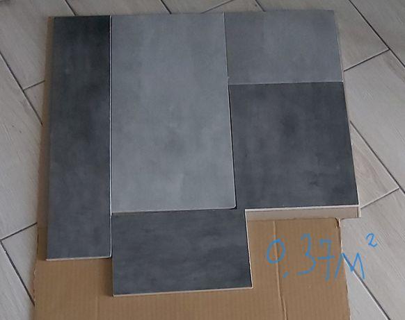 Плитка керамогранит серый под бетон.Обрезки 0.37м2