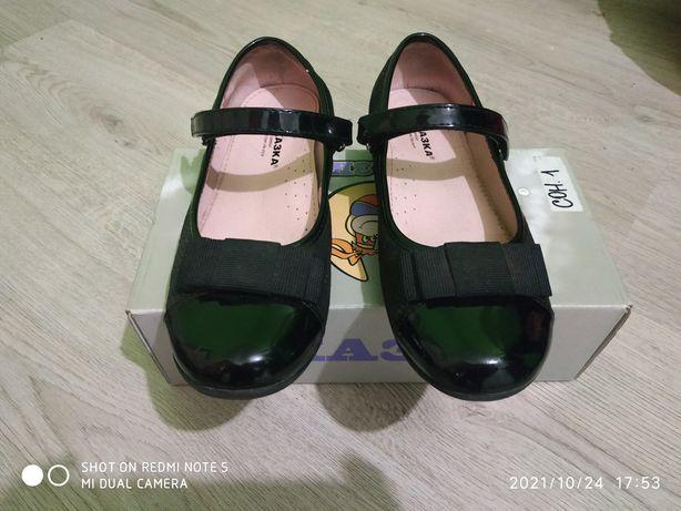 Школьные туфельки на девочку в отличном состоянии
