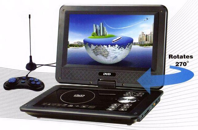 Автомобильный Портативные DVD+ TВ плеер с телевизором Т2 и USB ФЛЕШ