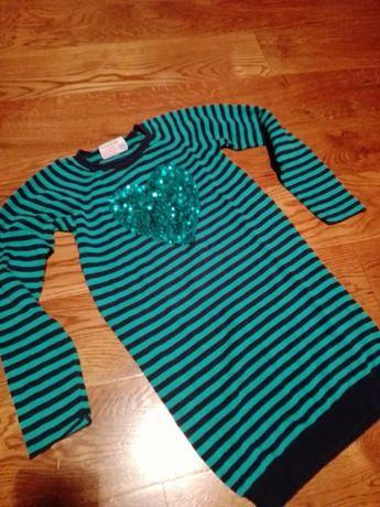 Sweter, tunika Reserved 140 cekinowe serduszko
