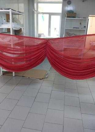 Красные оригинальные шторы,зановески,тюль