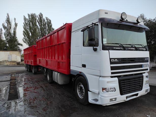 Daf xf 95.430 контейнеровоз, зерновоз с прицепом