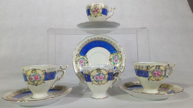 Klasyczne małe filiżanki porcelanowe vintage design antyk filiżanka