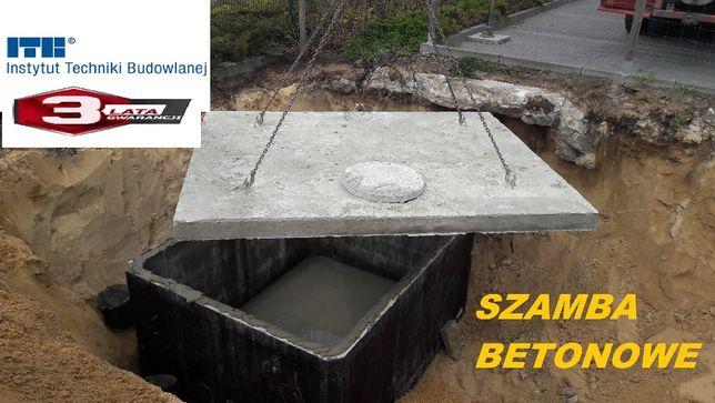Szambo 2m3 z płyta najazdową Zbiornik betonowy -szamba od producenta
