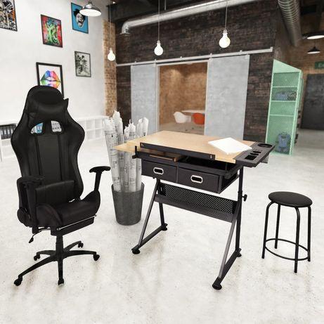 vidaXL Estirador inclinável com cadeira de escritório estilo corridas 275653