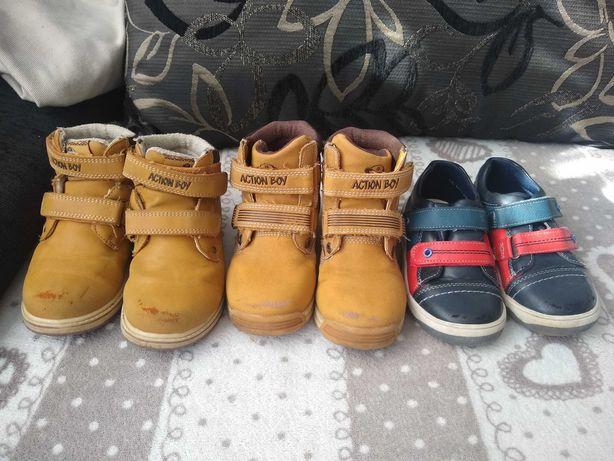 Zestaw buty trzewiki 26 action boy
