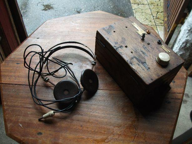 Radio (galena) artesanal antigo