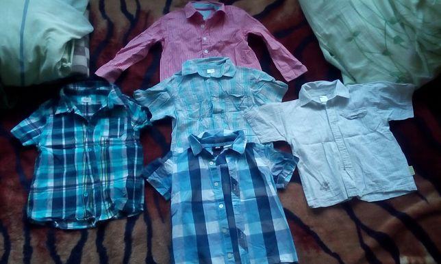 Koszule krótki długi rękaw r.104 H&M, Endo,F&F