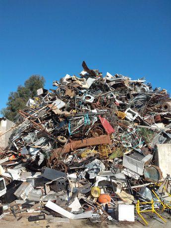 Sucata recolha, metais ferrosos e nao ferrosos