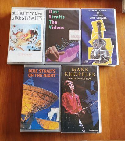 Cassetes vhs concertos Dire Straits