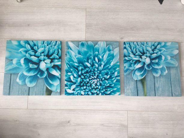 Картини картина модульні модульные квіти цветы бирюза