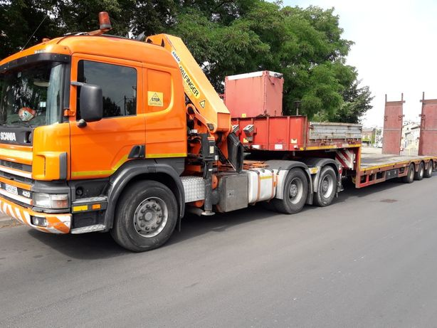 Usługi HDS, Transport HDS, Usługi dźwigowe, trawers, transport maszyn