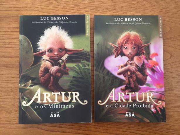 Livros saga Artur e os Minimeus