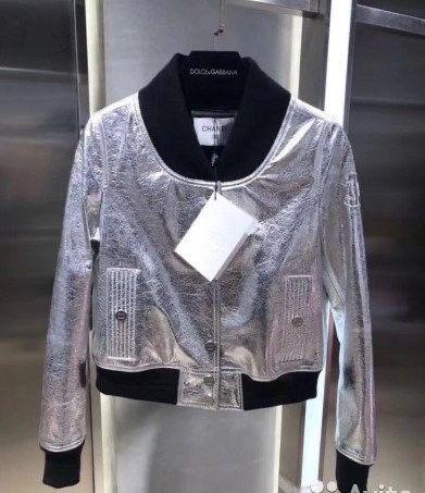 Кожаная куртка Chanel M,L скидка