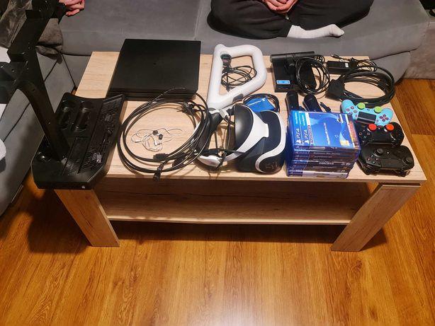 PS4 PRO + VR + GRY + dużo akcesoriów - Mega zestaw - 10 gier - Razer