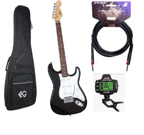 Zestaw Gitara Squier Bullet BLK + pokrowiec + kabel + tuner!!