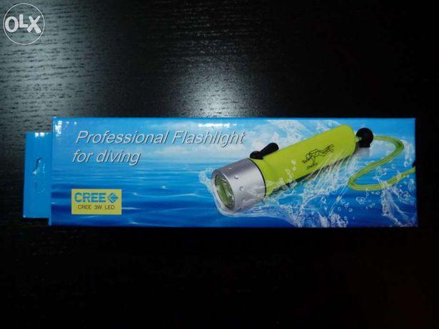 Lanterna led mergulho (mergulhador)
