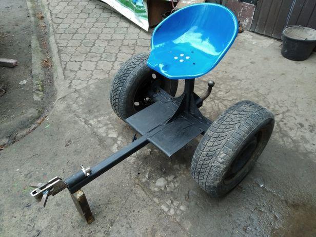 Ciągnik traktor jednoosiowy wózek lisek siodło traktorek ogrodowy