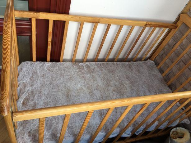 Детская кроватка на колесиках, ортопедический матрас