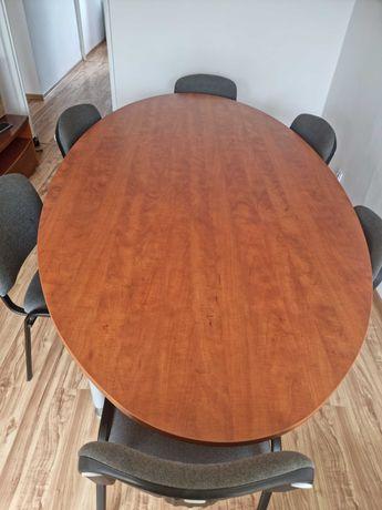 Stół konferencyjny 250/135 z 6 krzesłami