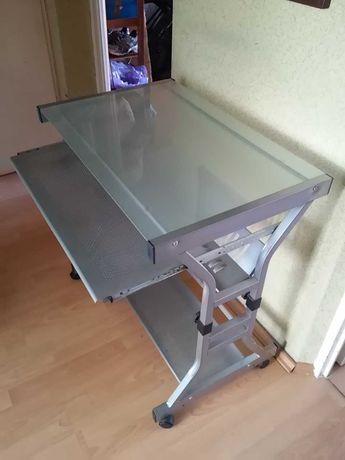 JYSK biurko komputerowe metalowe, wysuwany blat