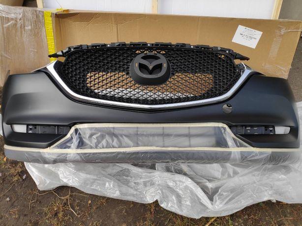 Бампер передний, решетка радиатора Mazda cx5 2017,2018,2019,2020