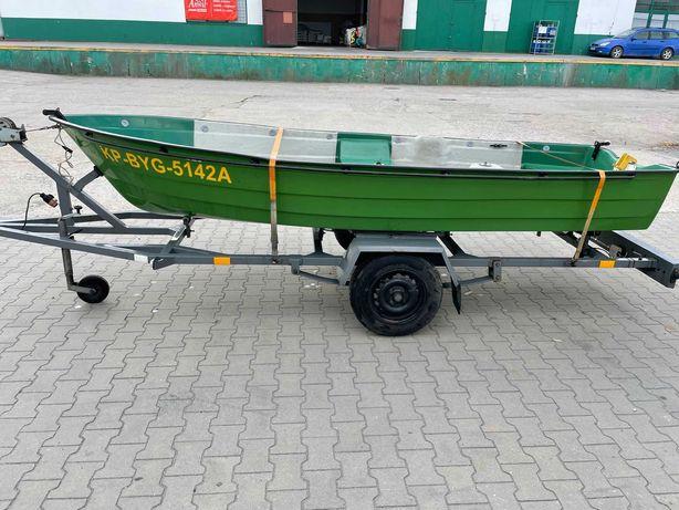 Sprzedam łódkę z osprzętem z przyczepką, silnikiem i echosondą