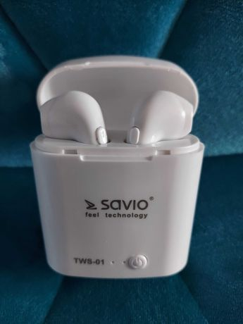 Słuchawki bluetooth Savio Tws-01 jak nowe
