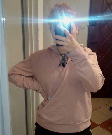 liliowa bluza damska