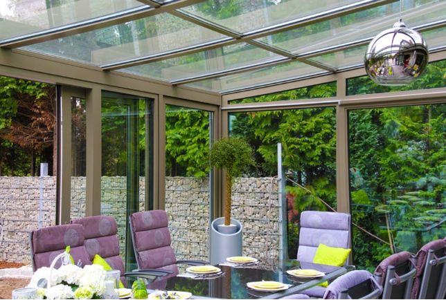 Stolarka aluminiowa, drzwi, okna, fasady,taras szklany, ogród zimowy